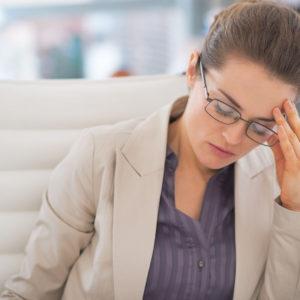 thyroid, stressed businesswoman