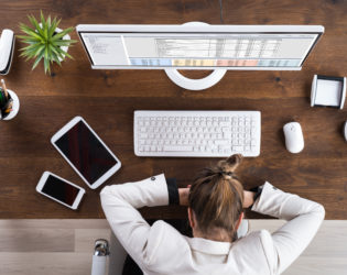 thyroid disease, tired businesswoman